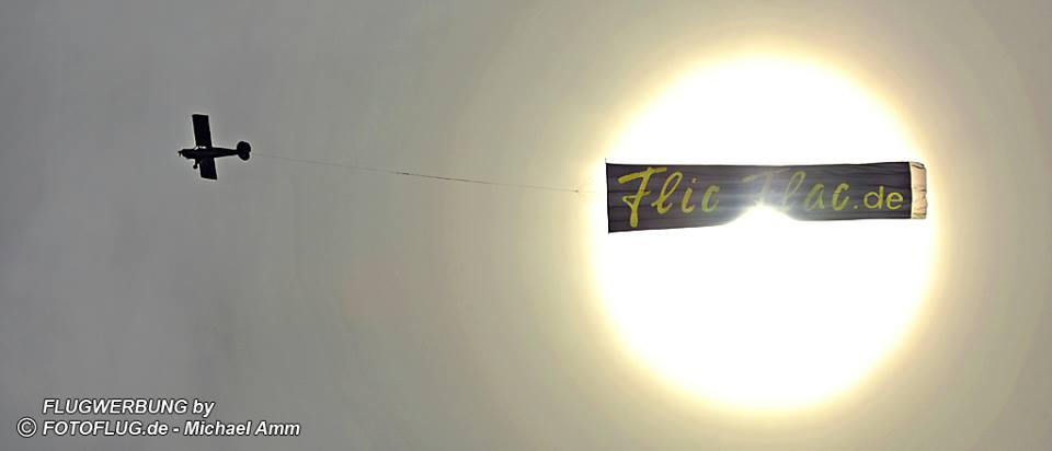 Flugwerbung Flic Flac